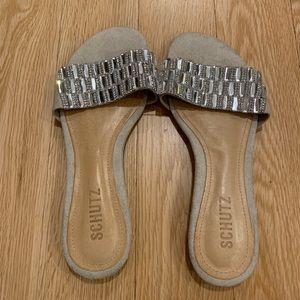 NEW Schutz Sandals in Oyster Size 7